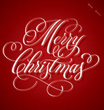 Merry Christmas hand lettering (vector) Stock Photo
