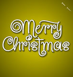 Merry Christmas hand lettering (vector) Stock Images