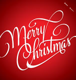 MERRY CHRISTMAS hand lettering (vector) Royalty Free Stock Photography