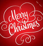 MERRY CHRISTMAS hand lettering (vector) Stock Photos