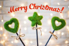 Merry christmas 2017 royalty free stock images