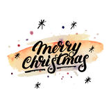 Merry Christmas hand written letterng 2017. Royalty Free Stock Photography