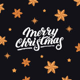 Merry Christmas hand written letterng 2017. Royalty Free Stock Photos