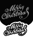 Merry Christmas. Hand-written text. Merry Christmas. Hand written text. Vector illustration Royalty Free Stock Photography