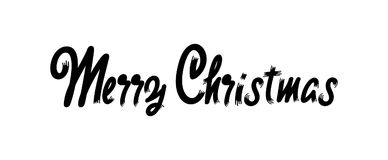 Merry christmas insignia and labels for any use. Merry christmas handwritten icons for your design Stock Images