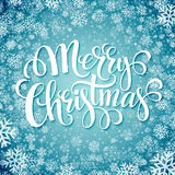 Merry christmas  handwritten text on background Royalty Free Stock Photos