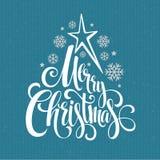 Merry christmas handwritten text. Vector royalty free illustration
