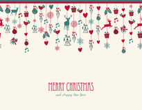 Free Merry Christmas Hanging Elements Decoration Compos Royalty Free Stock Photo - 34309305