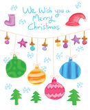 Merry Christmas hanging Royalty Free Stock Image