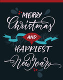Merry Christmas and happiest New Year greeting card Stock Photo