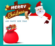 Merry Christmas! Happy Christmas companions Stock Images