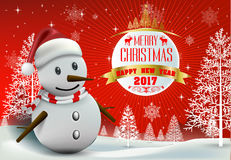Merry Christmas! Happy Christmas companions Royalty Free Stock Image