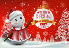 Merry Christmas! Happy Christmas companions Royalty Free Stock Photography