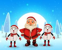 Merry Christmas happy christmas,santa with rendeer royalty free stock photography