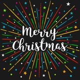 Merry Christmas. Happy Holiday Illustration. Royalty Free Stock Images