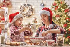 Cooking Christmas cookies Stock Images