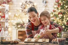 Cooking Christmas cookies Royalty Free Stock Photos