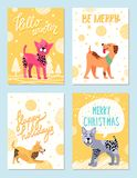 Merry Christmas Happy Holidays Vector Illustration Stock Images