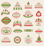Merry Christmas and Happy Holidays Wishes. Illustration Merry Christmas and Happy Holidays Wishes. Collection Typographic Elements, Vintage Labels, Frames Stock Photos