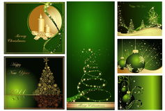 Merry Christmas and Happy New Stock Photos