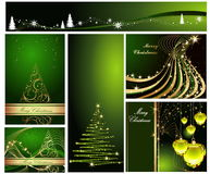 Merry Christmas and Happy New. Year collection Stock Image