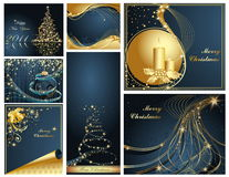 Merry Christmas and Happy New. Year collection Stock Photo