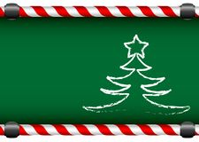 Merry Christmas and a Happy New Year. Green school board with a chalk happy New Year tree and star Royalty Free Illustration