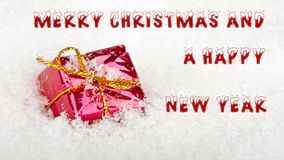 Merry Christmas and a Happy New Year stock video footage