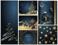 Merry Christmas and Happy New Year. Collection Stock Photos