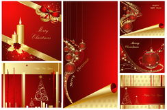 Merry Christmas and Happy New Year. Collection Royalty Free Stock Photo