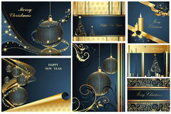 Merry Christmas and Happy New Year. Collection Royalty Free Stock Images