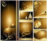 Merry Christmas and Happy New Year. Collection Stock Image