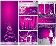 Merry Christmas and Happy New Year. Collection royalty free illustration