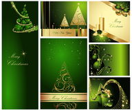 Merry Christmas and Happy New Year. Collection Stock Images