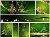 Merry Christmas and Happy New Year. Collection Stock Photo
