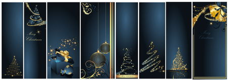 Merry Christmas and Happy New Year. Collection Royalty Free Stock Photography