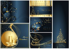 Merry Christmas and Happy New Year. Collection Royalty Free Stock Photos