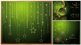 Merry Christmas and Happy New Year. Collection vector illustration
