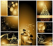 Merry Christmas and Happy New Year. Collection stock illustration