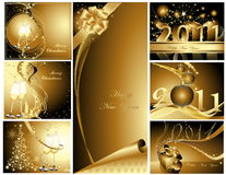 Merry Christmas and Happy New Year. Collection Royalty Free Stock Image
