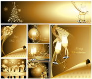 Merry Christmas and Happy New Year Royalty Free Stock Photography