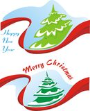 Merry christmas, happy new year Stock Photo