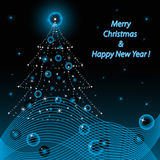 Merry Christmas and Happy New Year. Illustration  Merry Christmas and Happy New Year Royalty Free Stock Image