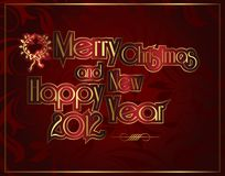 Merry Christmas and Happy New Year 2012 Royalty Free Stock Photography