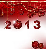 Merry Christmas and Happy New Year 2013. Merry Christmas and Happy New Year, vector illustration Royalty Free Stock Images