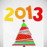 Merry christmas and happy new year 2013. Card design vector illustration