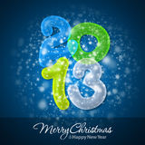 Merry Christmas and Happy New Year 2013. Greeting Card Stock Photo