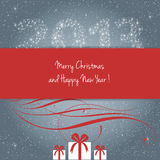 Merry Christmas and Happy New Year 2013 !. Merry Christmas and Happy New Year card, vector Royalty Free Stock Images