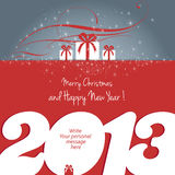 Merry Christmas and Happy New Year 2013 !. Merry Christmas and Happy New Year 2013 card, write your message. Vector stock illustration