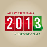 Merry Christmas and happy new year 2013 mechanical Royalty Free Stock Photography